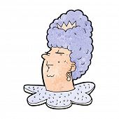 cartoon queen head