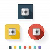 Locker Flat Icon Design