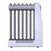Oil Heater On White
