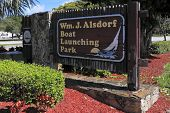 Boat Launching Park Sign
