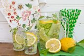 Lemonade With Cucumber And Lemons