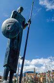 stock photo of trident  - statue in Menton - JPG