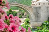 Mostar Bridge in Spring - Mostar, Bosnia and Herzegovina