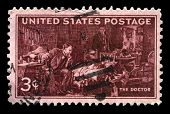 Doctors Us Postage Stamp