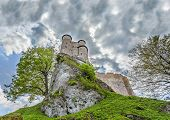 Stormy Sky Over Medieval Castle.