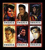 Elvis Presley Postage Stamps From Rwanda