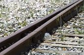 transport, train rails, detail of railways in Spain