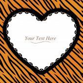 Tiger Striped Heart Frame