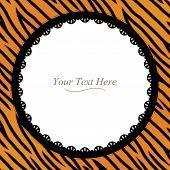 Tiger Striped Round Frame