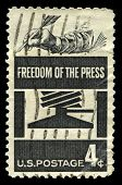 Freedom Of The Press Us Postage Stamp