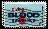 Giving Blood Saves Lives Postage Stamp