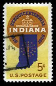 Indiana Statehood Us Postage Stamp
