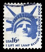 Statue Of Liberty Us Postage Stamp