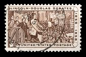 Lincoln-douglas Debates Us Postage Stamp