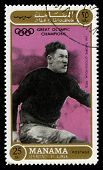 Jim Thorpe Olympic Champion Postage Stamp