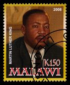 Martin Luther King Postage Stamp