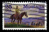 Montana Us Postage Stamp