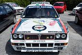 White Lancia Delta Hf Integral Martini Racing