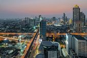 Bangkok Central Business District (CBD) at night