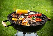 stock photo of braai  - Grilled vegetables on the grill - JPG