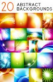 Mega collection of shiny smooth color abstract vector background. 20 design templates