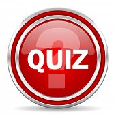 quiz red glossy icon