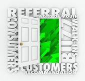 open door new referral and word of mouth customers