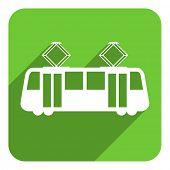 tram flat icon