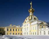 Big Palace In Peterhof, St. Petersburg