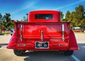 Red 1935 Ford Pickup Truck