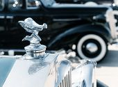 Hood Ornament Of 1937 Rolls Royce Automobile