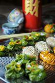 Variety Of Dim Sum Food