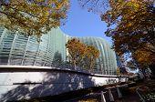 Tokyo Japan - November 23 2013: People visit National Art Center in Tokyo Japan