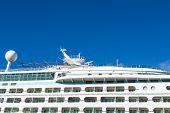 Verandas On Upper Decks Of Cruise Ship