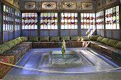 Crimea - circa September 2014: hall of Khan's Palace in Bakhchisaray Crimea circa September 2014