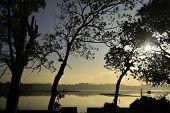 Fiery Sunrise Lake