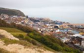 Hastings town view from the castle's mo