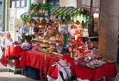 Souvenirs shops in Covent Garden market, London