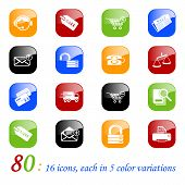 Sale & shopping icons, color series