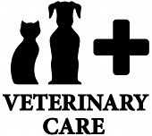 pic of cross-breeding  - black veterinary care icon with pet and medical cross - JPG