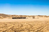 stock photo of tozeur  - Sahara desert near Ong Jemel in TozeurTunisia - JPG