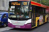 Bus Travel On The Singapore Street