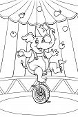 Circus elephant. Color me!