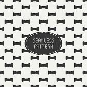 Vector seamless retro pattern, with vintage hipster gentleman bow tie. For wallpaper, pattern fills,