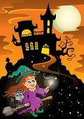 Haunted mansion Halloween theme - eps10 vector illustration.