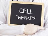Doctor Shows Information: Cell Therapy