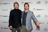 NEW YORK-OCT 18: Actors Mads Mikkelsen (L) and Hugh Dancy attend PaleyFest NY 2014 for