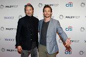 NEW YORK-OCT 18: Actors Mads Mikkelsen (L) and Hugh Dancy attend PaleyFest NY 2014 for