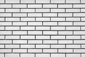 White brick modern wall background and texture