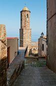 Narrow Street In Castelsardo Fortress, Sardinia, Italy